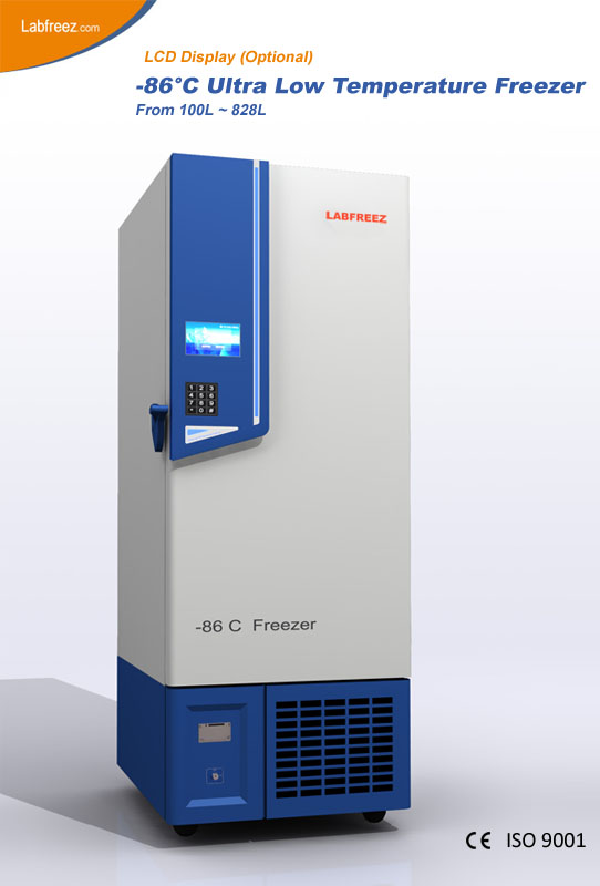 MR-DF-N86 Series -86ºC Ultra-low Temperature Freezer, VIP insulation, CO2 standby power supply, Upright style
