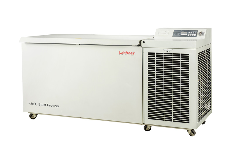 -86ºC Blast Plasma Freezer, VIP Insulation, CO2 standby power supply, Chest type