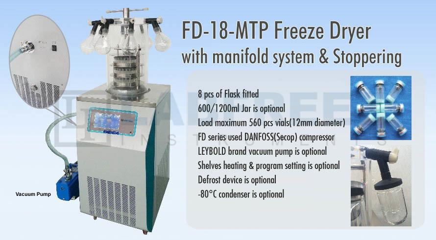 FD-18S Freeze Dryer Lyophilizer Manufacturers & Suppliers in