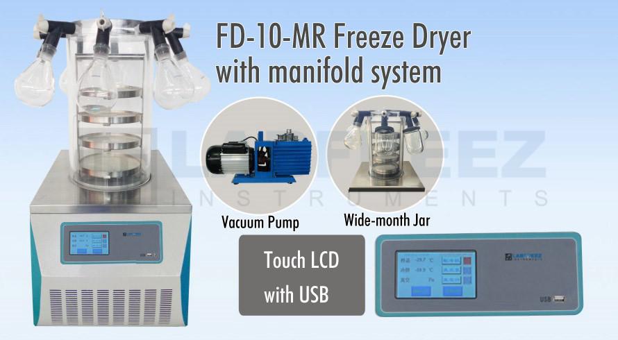 FD-10 Bench-top Mini Vacuum Freeze Dryer Lyophilizer Manufacturer