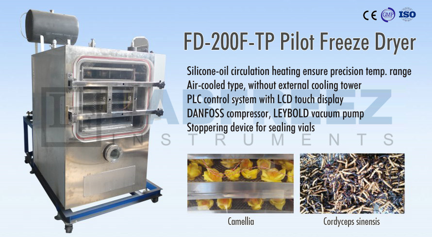 FD-200F Series Pilot Freeze dryer lyophilizer 2 square meter, Air