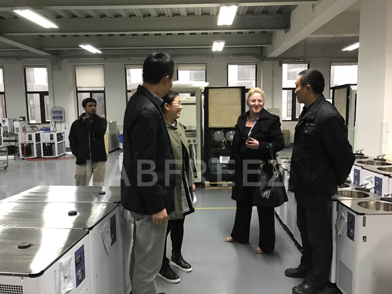 VP of Advanced Thermal Solutions (U.S.) visiting our Chiller production line